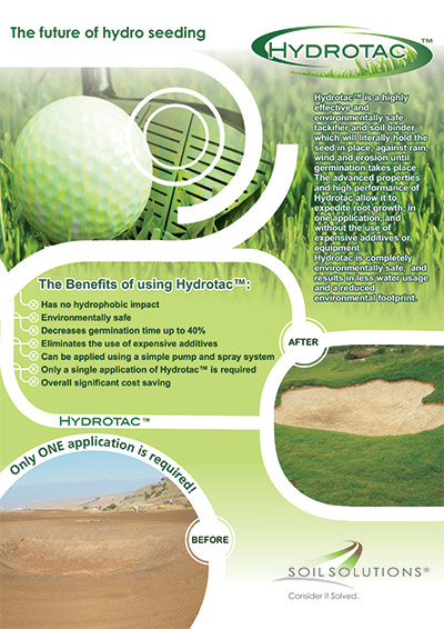Hydrotac Sports Turf Brochure