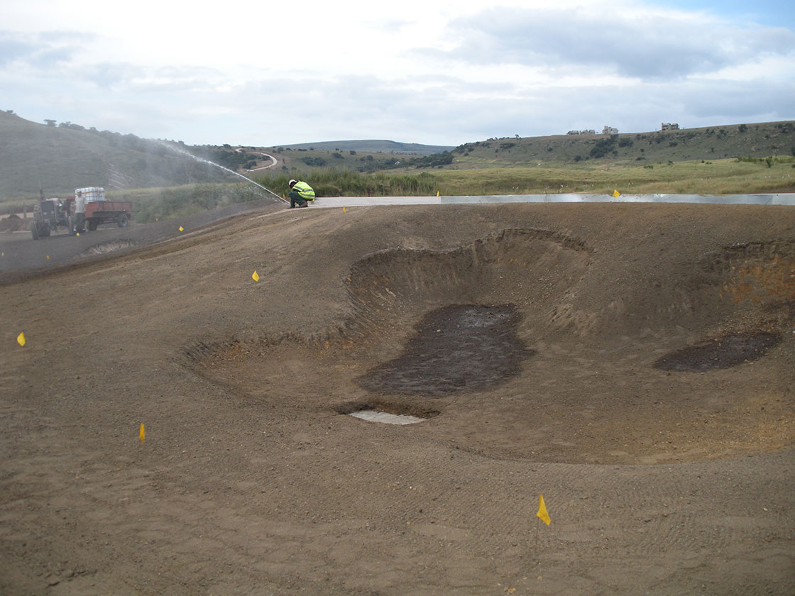 Nondela Hole 13 - April 20, 2009 after Hydrotac application