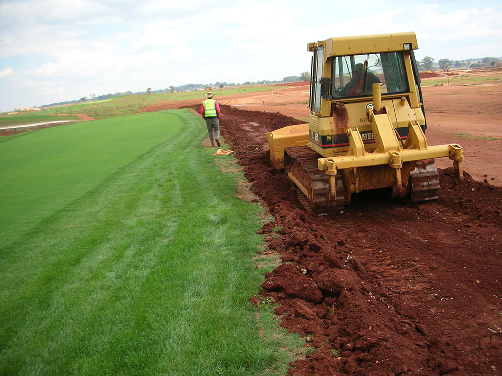 Golf Course Cart Path Construction