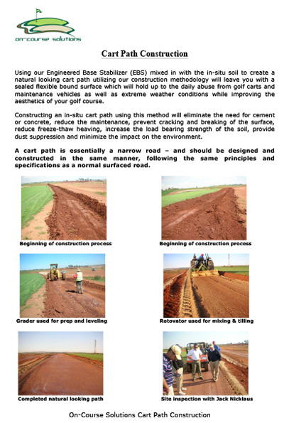 Golf Cart Path construction brochure