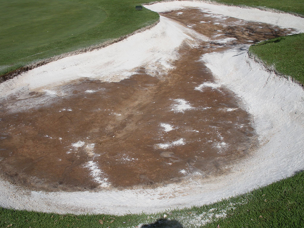 Bunkertac applied to the edges