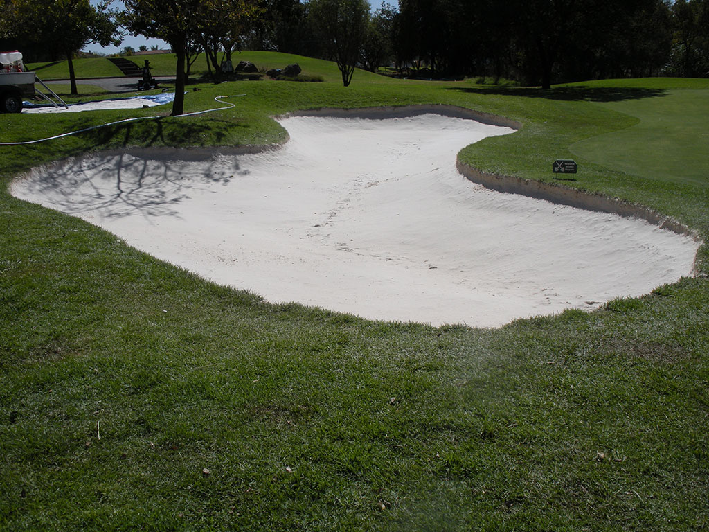 edges were also treated which protects the bunker from erosion and contamination
