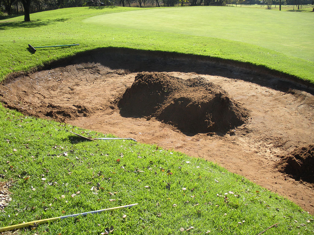 Bunker lacks erosion control and stabilization-Existing sand removed