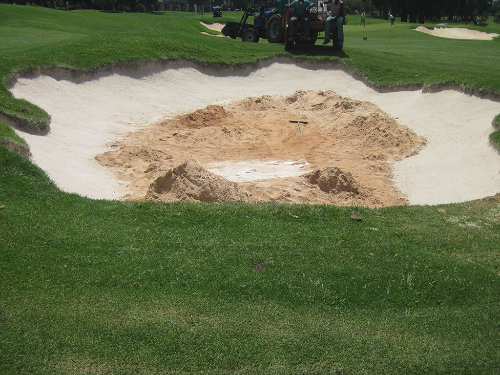 Hole 1 - After Final Coat of Bunkertac Application