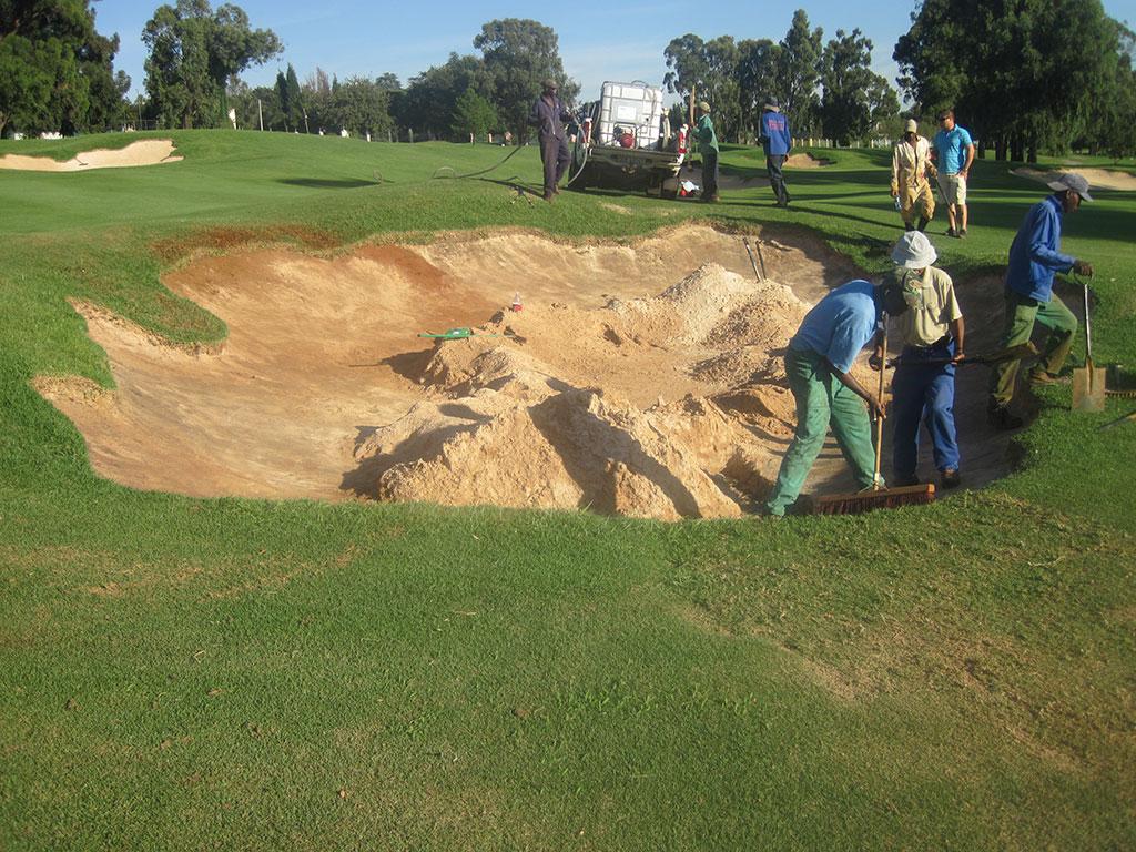 Hole 1 Final preparation