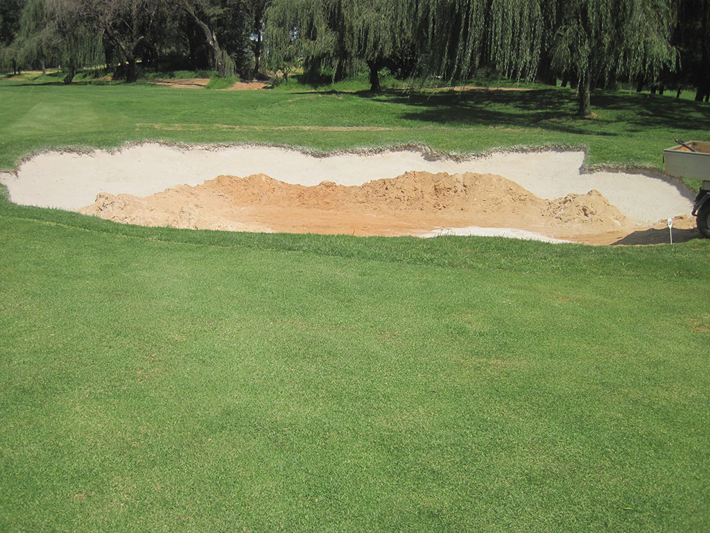 Hole 5 After Final coat of Bunkertac