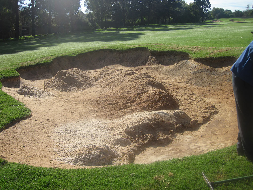 Hole 5 - prepared for Bunkertac application