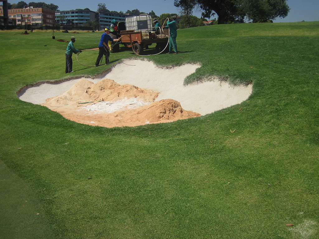 Hole 7 After 4th Coat of Bunkertac